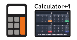 "We released the calculator app ""Calculator + 4"""